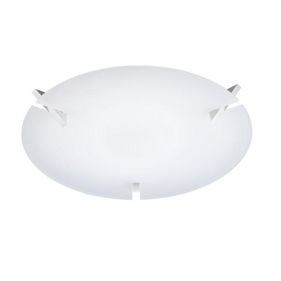 Knapstein runde LED-Deckenleuchte - satinierter Glasschirm in 2 Oberflächen