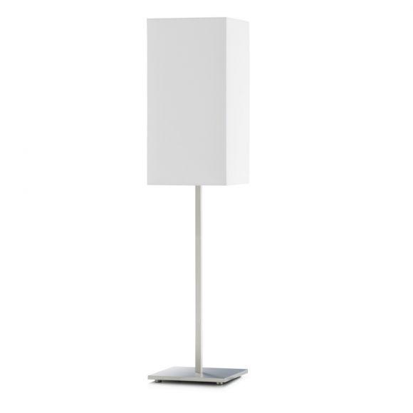 knapstein tischlampe mit schirm wei in quaderform wohnlicht. Black Bedroom Furniture Sets. Home Design Ideas