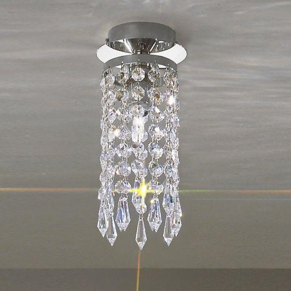 kolarz kristall deckenleuchte charleston chrom wohnlicht. Black Bedroom Furniture Sets. Home Design Ideas