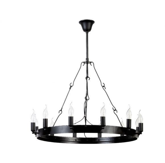 kronleuchter im industrial look metall schwarz 75cm wohnlicht. Black Bedroom Furniture Sets. Home Design Ideas