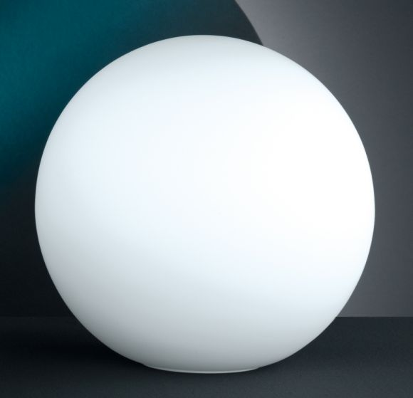 Kugel Tischleuchte  aus Opalglas weiß 30cm mit Schnurschalter und LED E27