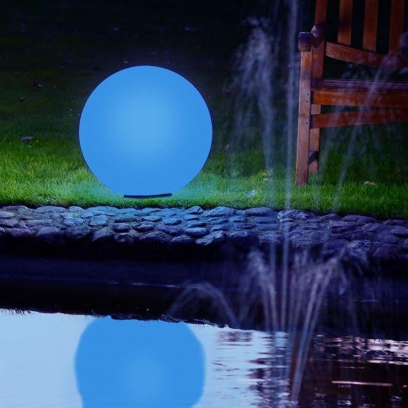Kugelleuchte Ø 50 cm mit LED-RGB-Leuchtmittel