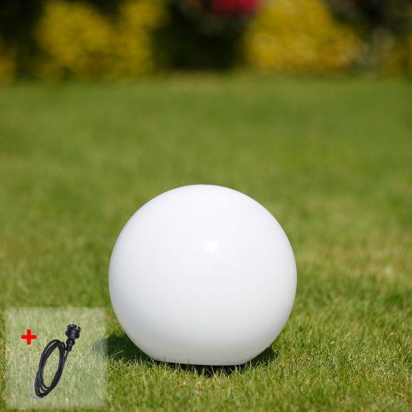 LHG Kugelleuchte Light 25 cm - mit 2m Gummizuleitung mit Stecker