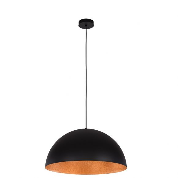 Kuppel-Pendelleuchte Tuba  -  Ø 50cm - Schwarz/Kupfer schwarz-kupfer