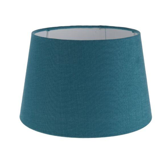 lampenschirm aus stoff in blau rund 25cm aufnahme e27 unten wohnlicht. Black Bedroom Furniture Sets. Home Design Ideas