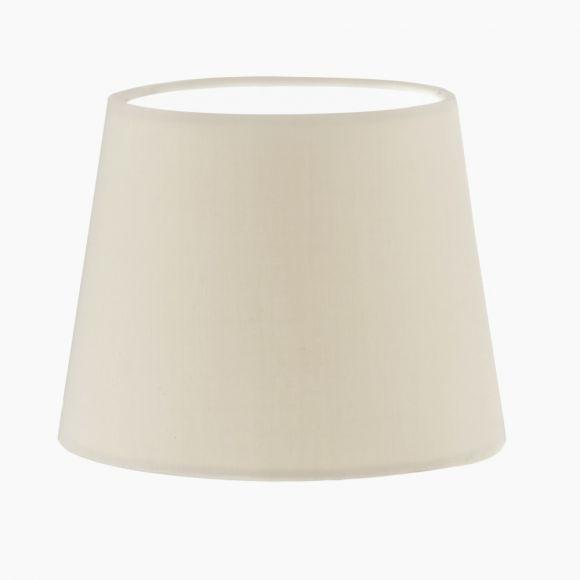 Lampenschirm aus Textilgewebe in Weiß - Höhe 17 cm - Durchmesser 24,5 cm