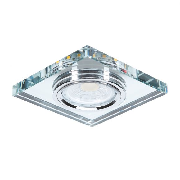 LHG LED 7Watt Deckeneinbauleuchte LED-Hintergrund eckig Glas