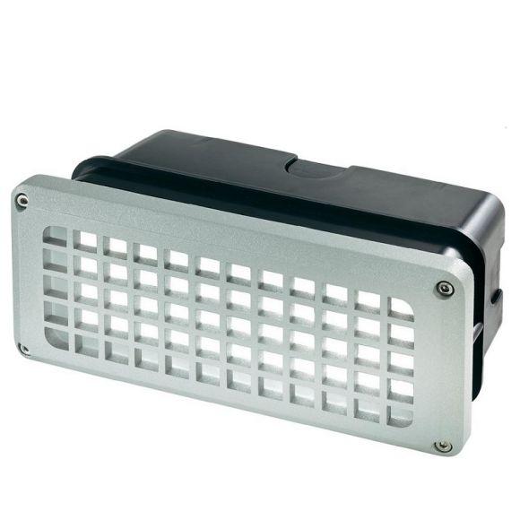 LED Alu-Wandeinbauleuchte mit Gitter - IP54 - 3,3W - Lichtfarbe 6000K