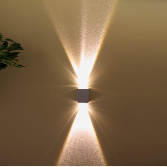 LHG LED Außenleuchte 2 x 1 Watt, klare Glaslinsen