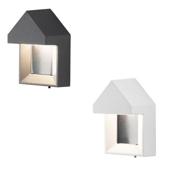 LED Außenwandleuchte Cosenza in Weiß oder Schwarz