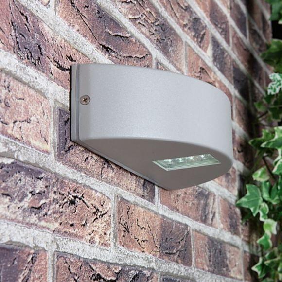 LHG LED Außenwandleuchte in grau matt inklusive LED