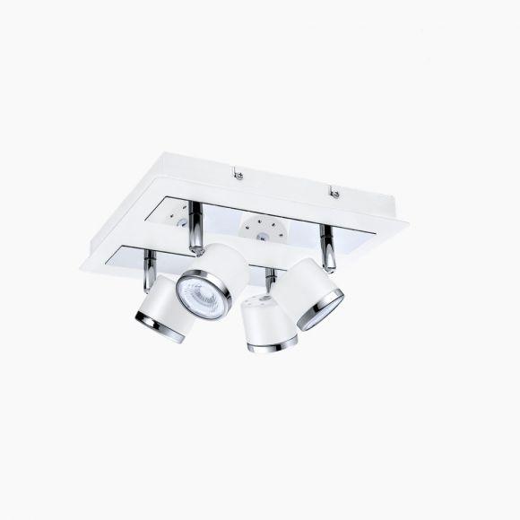 LED Deckenleuchte 4Spots in Nickel oder Chrom