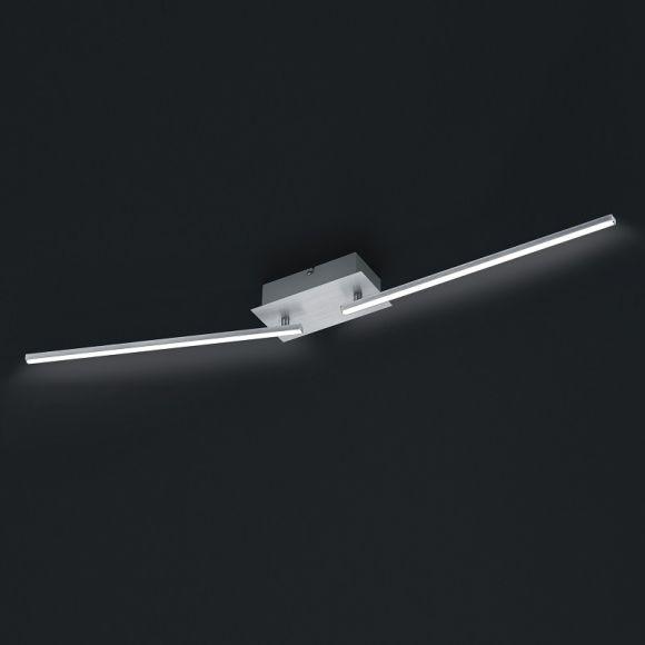 LED Deckenleuchte in Alu-gebürstet - 100 cm - 2-flg