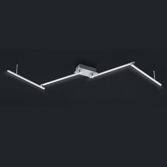LHG LED Deckenleuchte in Aluminium gebürstet -  Länge 180cm - inklusive 4x 11W LED je 1100lm 3000K + Extra 1x GU10 LED Leuchtmittel zur freien Nutzung