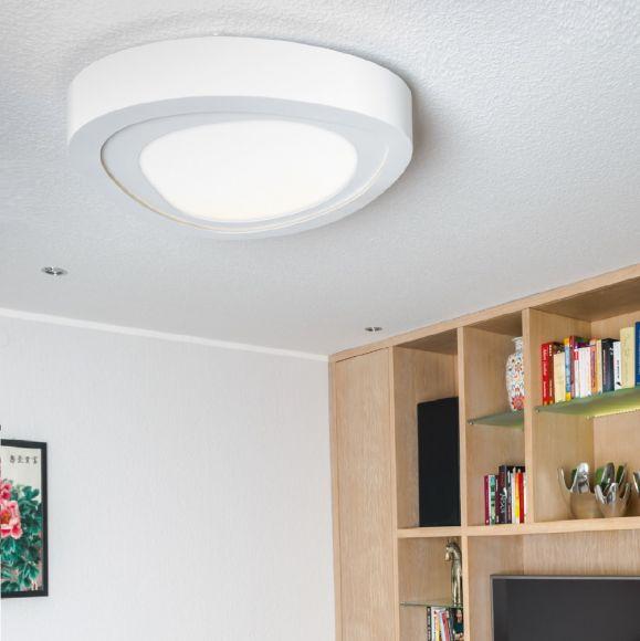 LED Deckenleuchte Cloud Größe wählbar, Metall /Acryl weiß