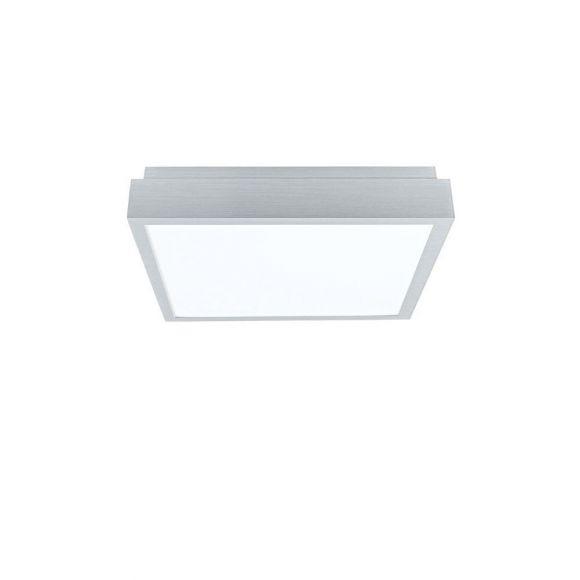 LED Deckenleuchte 58 x 58 cm, Alu gebürstet, Fernbedienung