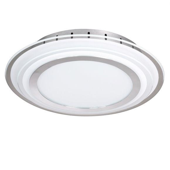 LED Deckenleuchte inklusive 20Watt, 1800lm Glas Chrom