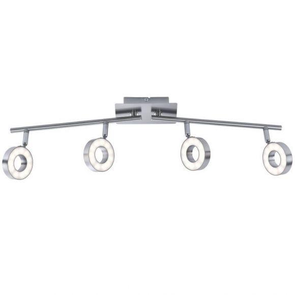 LED Deckenleuchte Lukas, 4-flammig, schwenkbar, warmweiß, modern