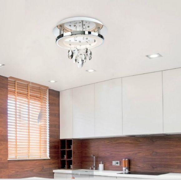 LED Deckenleuchte mit Glasbehang