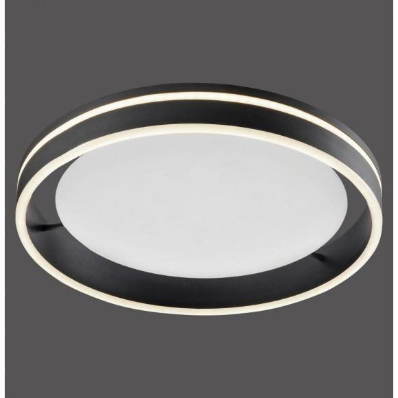 LED Deckenleuchte Q-VITO, anthrazit, Smart Home, rund, Fernbedienung 2 Größen