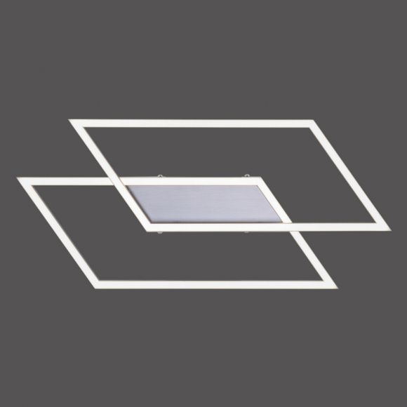 LED Deckenleuchte rautenförmig Inigo Simply Dim stahl