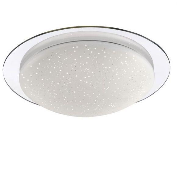 led deckenleuchte skyler mit sternenhimmel glas 45cm 1x 18 watt 45 00 cm wohnlicht. Black Bedroom Furniture Sets. Home Design Ideas