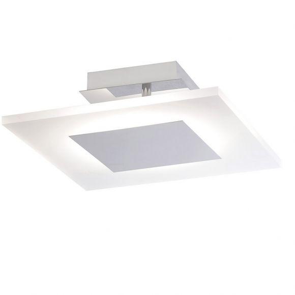 LED Deckenleuchte, Acrylglas, satiniert, neutralweiß, eckig, 35x35cm