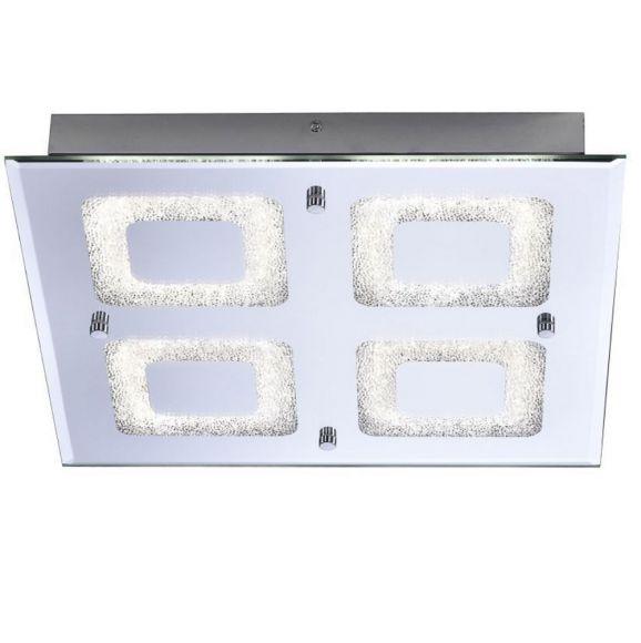 LED Deckenleuchte, Kristalloptik, Chrom