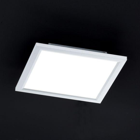 LED Deckenleuchte, Panel, 30 x 30 cm, inkl. Fernbedienung, dimmbar