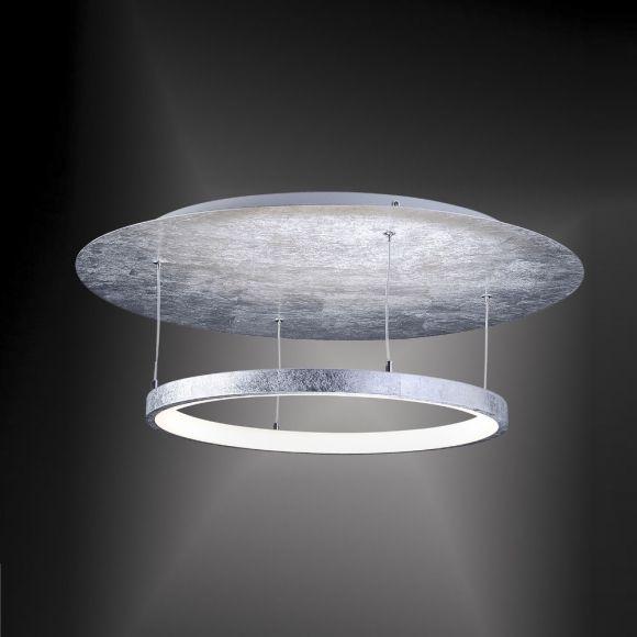 LED Deckenleuchte, rund, Blattgold o. Blattsilber, dimmbar, D= 60cm