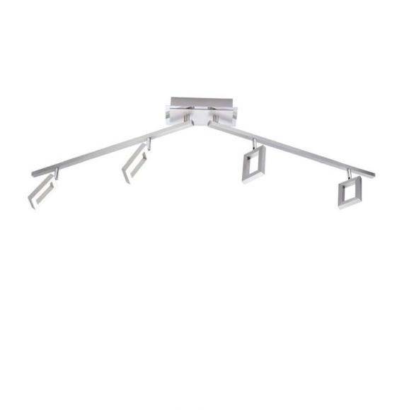 LED Deckenleuchte, Stahl, 4-flammig, warmweiß
