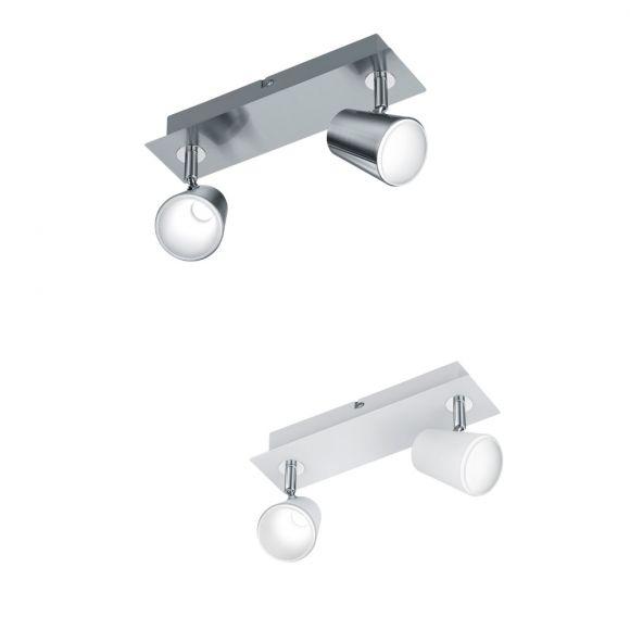 LED Deckenstrahler Narcos 2-flammig - Nickel matt oder Weiß