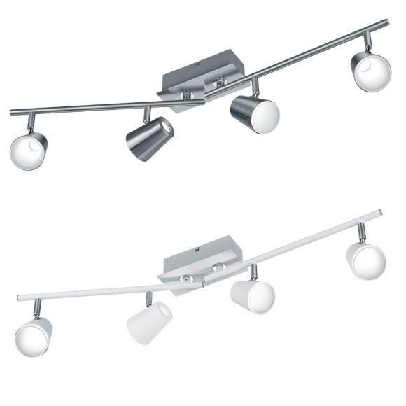LED Deckenstrahler Narcos 4-flammig - Nickel matt oder Weiß