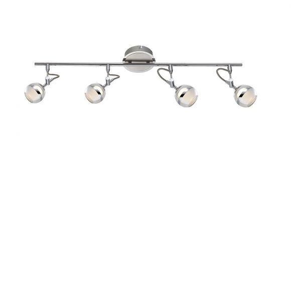 LED Deckenstrahler in nickel-matt 5W LED 350lm 3000K 4flammig- inklusive  LED Taschenlampe