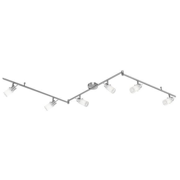 LED Deckenstrahler - 6-flammiger Deckenspot - Inklusive LED-Leuchtmittel und LED Taschenlampe