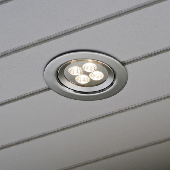 LED Einbaustrahler mit 4 High Power LEDs, Alumininum