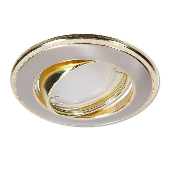 LED Einbaustrahler Nickel und Gold 3-fach dimmbar switchmo