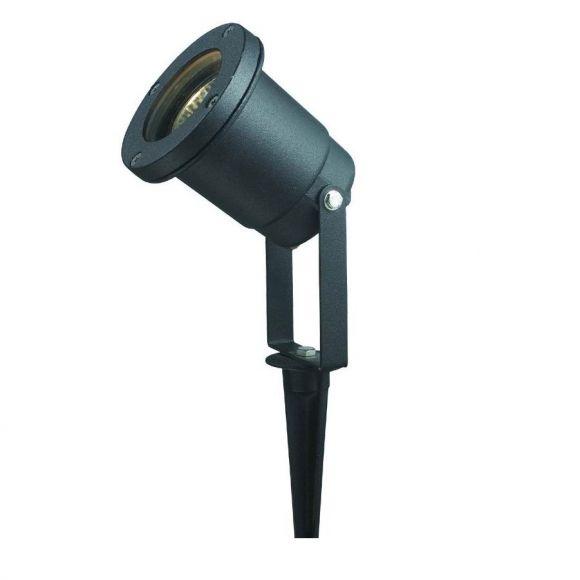 LED Erdspießstrahler, Außenleuchte, schwarz, verstellbar, LED warmweiß