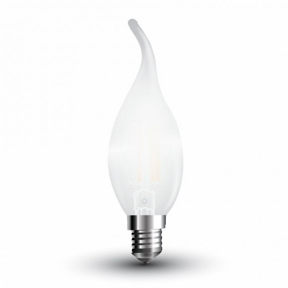 LED Filament Kerze E14 in Windstoßoptik mit 4 Watt 400 Lumen