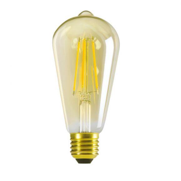 LED Filament Leuchtmittel E27, 7 Watt entspricht ca. 55 Watt , 725lm, gold, 2500K warmweiß, LED Lampe, Ausstrahlwinkel bis zu 320°