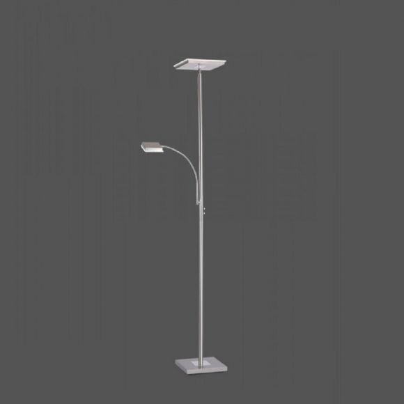 LED Fluter Hans eckig  mit Lesearm und Touchdimmer H 180cm