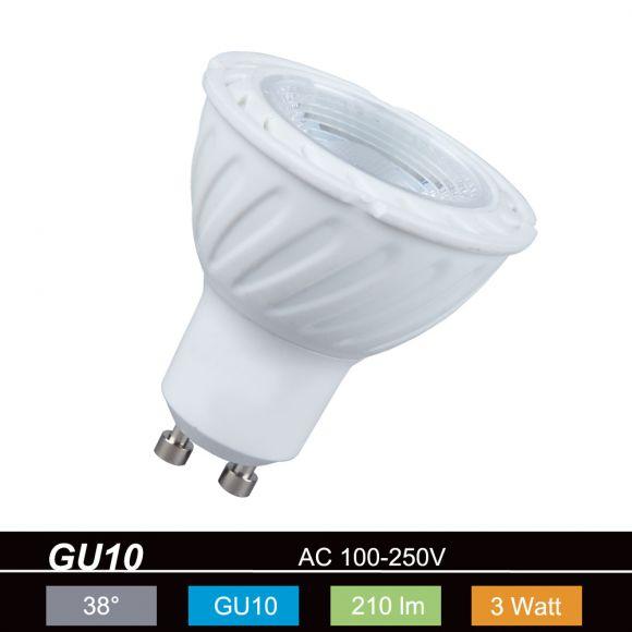 LHG LED GU10 3W warmweiß 210lm 38° nicht dimmbar