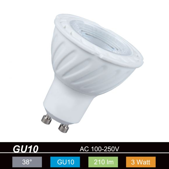 LED GU10 3W warmweiß 210lm 38° nicht dimmbar