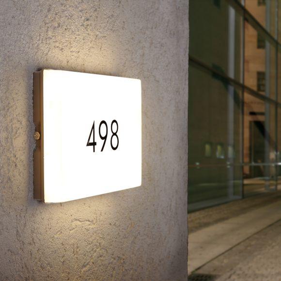 LED Haunummernleuchte mit Dämmerungsschalter in 3 Farben