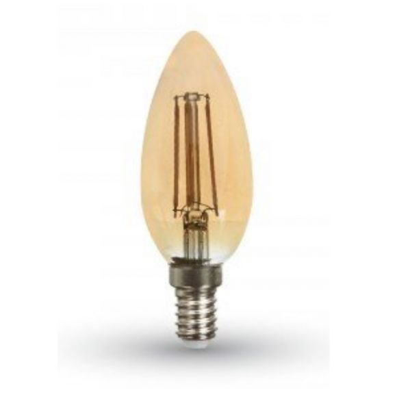 LED Kerze Filament E14 4 Watt  2200 Kelvin amber/gold 350 Lumen