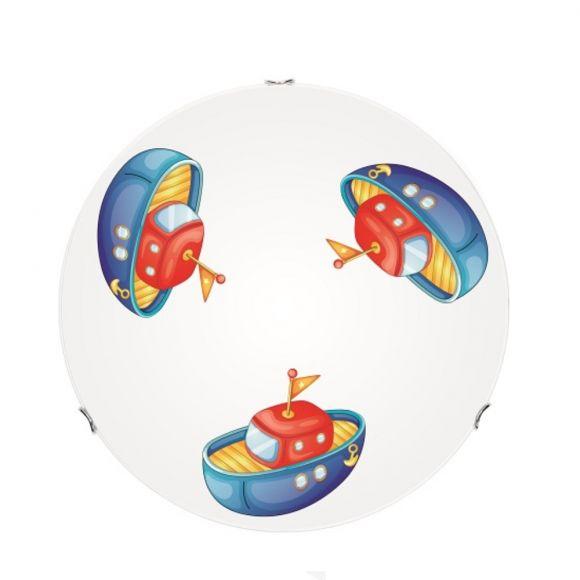 LED Kinderzimmer Deckenleuchte Boot, Ø wählbar