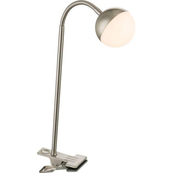 LED Klemmstrahler, Acrylkugel, verstellbar, Schnurschalter, LED 5W