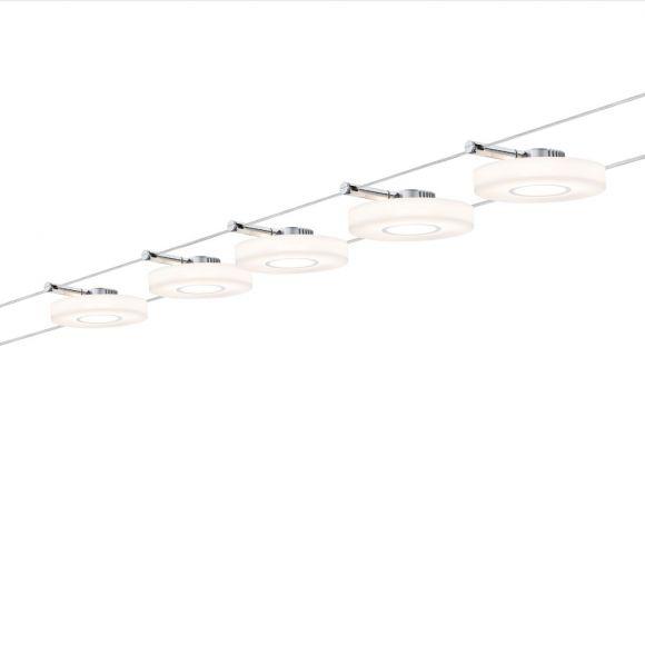 LED Komplett-Seilsystem Wire Chrom-Satin, max. 5 Meter