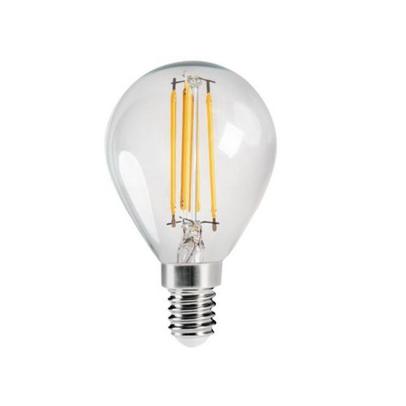 LED Leuchtmittel, E14, Tropfen, klar, warmweiß, 4,5W