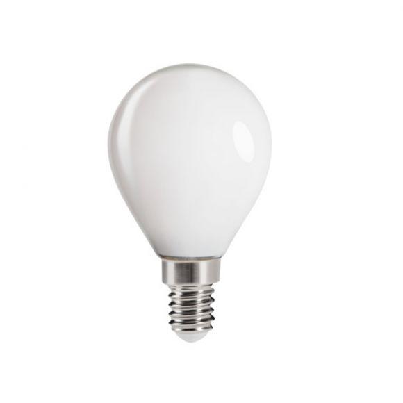 LED Leuchtmittel, E14, Tropfen, opal, warmweiß, 6W